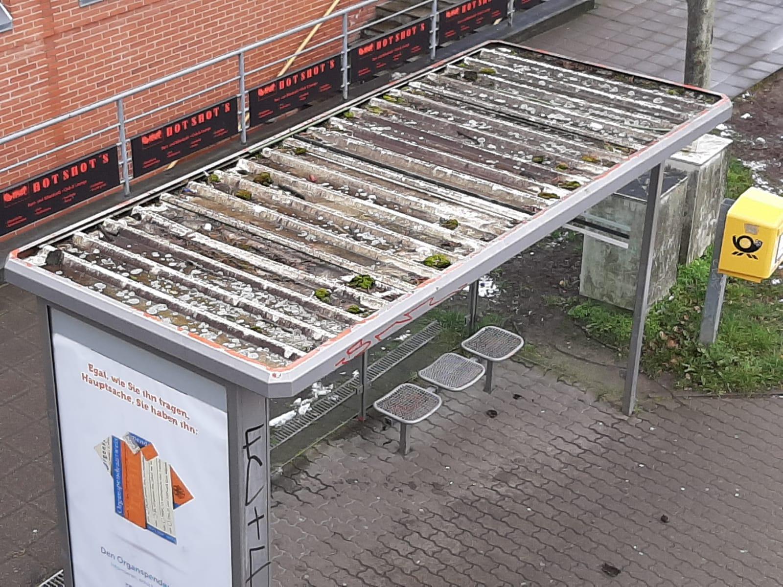 Bushaltestellenhäuschen in Wismar